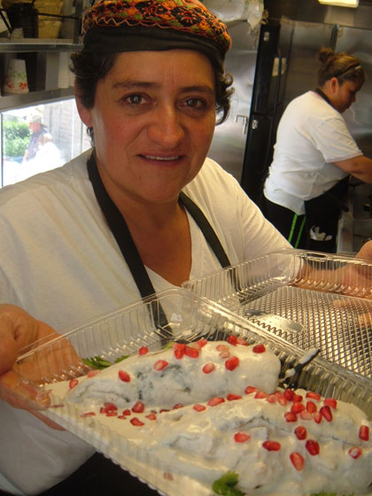 plate of chile nogada